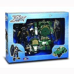 Игровой набор - РОБОТ-ТРАНСФОРМЕР (15 см), ТАНК (зеленый), ВОИН 82010R X-bot (82010R)