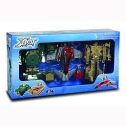 Игровой набор - РОБОТ-ТРАНСФОРМЕР (15 см), ТАНК (зеленый), САМОЛЕТ, ТАНК (бежевый) 82040R X-bot (82040R)