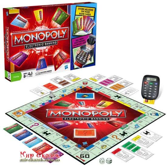 Игра Монополия с банковскими карточками 37712 HASBRO (AKT-37712)