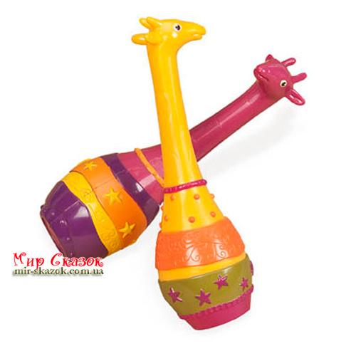 Музыкальная игрушка серии ДЖУНГЛИ - набор маракасов ДВА ЖИРАФА BX1251GTZ Battat (BX1251GTZ)