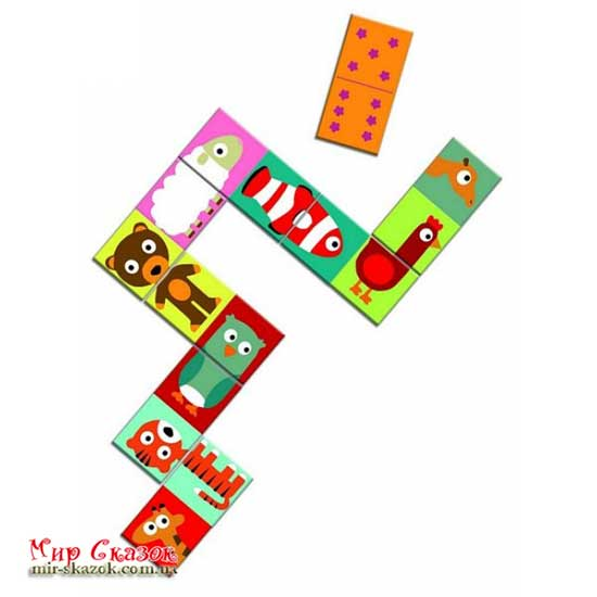 Игра детское домино Сложи животное DJECO DJ08165 (DJ08165)