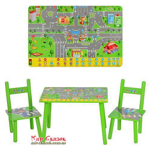 Столик с двумя стульчиками Bambi M 2102  Правила дорожного движения (ut-91648)