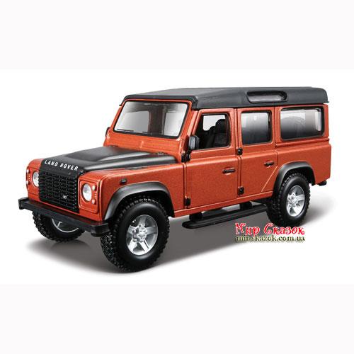 Авто-конструктор - LAND ROVER DEFENDER 110 (коричневый металлик, 1:32) 18-45127 Bburago (18-45127)