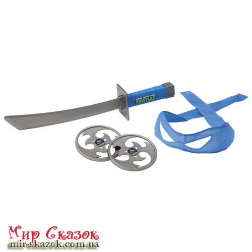 Набор игрушечного оружия сер. ЧЕРЕПАШКИ-НИНДЗЯ - боевое снаряжение Леонардо (меч со звук. эффектами) (92031)