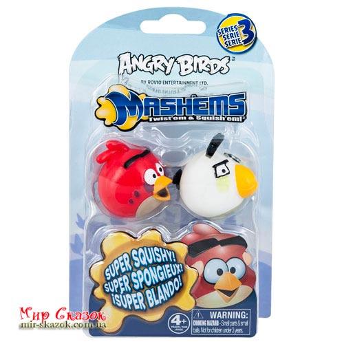 Набор ANGRY BIRDS S3 - МAШЕМСЫ (2 птички: новая красная, белая) (50281-S3NRW)