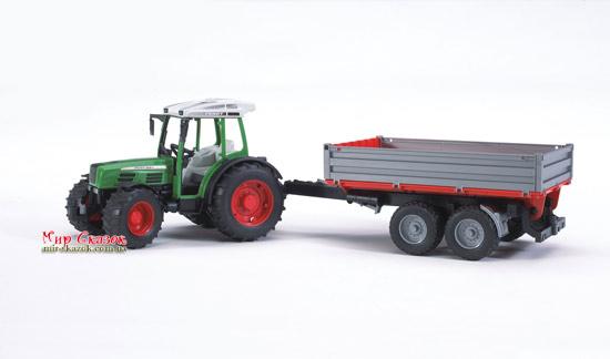 Машинка - Трактор Fendt 209 S с прицепом, М1:16 (AKT-02104)