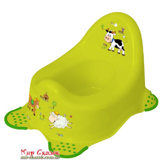 Детский горшок Funny Farm, зеленый 8722.274 Prima-Baby (AT-8722.274)