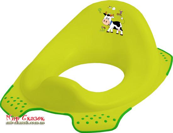 Детская накладка на унитаз Funny Farm, зеленая 8723.274 Prima-Baby (AT-8723.274)