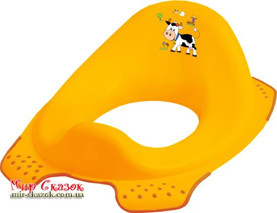 Детская накладка на унитаз Funny Farm, желтая 8723.456 Prima-Baby (AT-8723.456)
